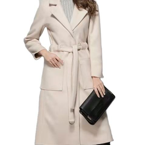 Top selling new style solid color long trench coat for women