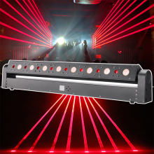 Dj laser light 8pcs stage laser+strobe moving head laser lights for night club