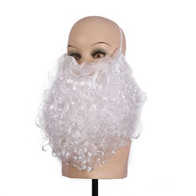 high quality synthetic fiber wig white santa beard wig for Christmas cosplay