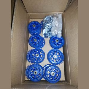 4 inch 100mm Transparent PU Polyurethane Blue Roller Blade Wheels