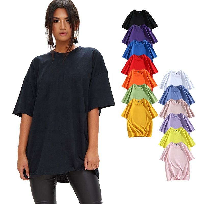 Wholesale 100% Cotton women's clothing Graphic Women T-shirt Dress Custom Logo tees Ladies t shirts Oversized Tshirt For Woman