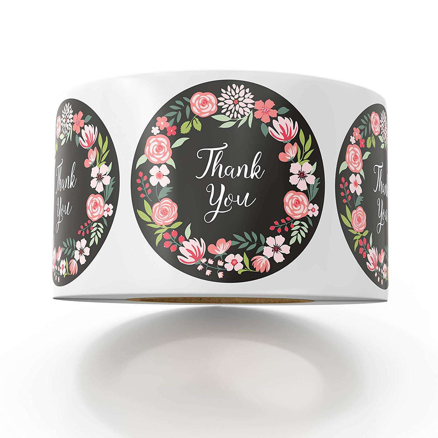 Custom Stickers Handmade Craft Thank You Stickers Waterproof Seal Label Sticker Adhesive Packaging Labels