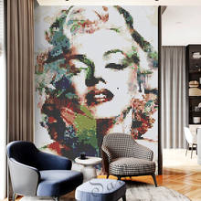 Decoration wall painting mosaic tile glass mosaic Marilyn Monroe design