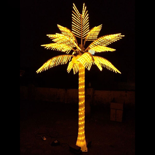 New design waterproof LED lighting artificial coconut palm tree