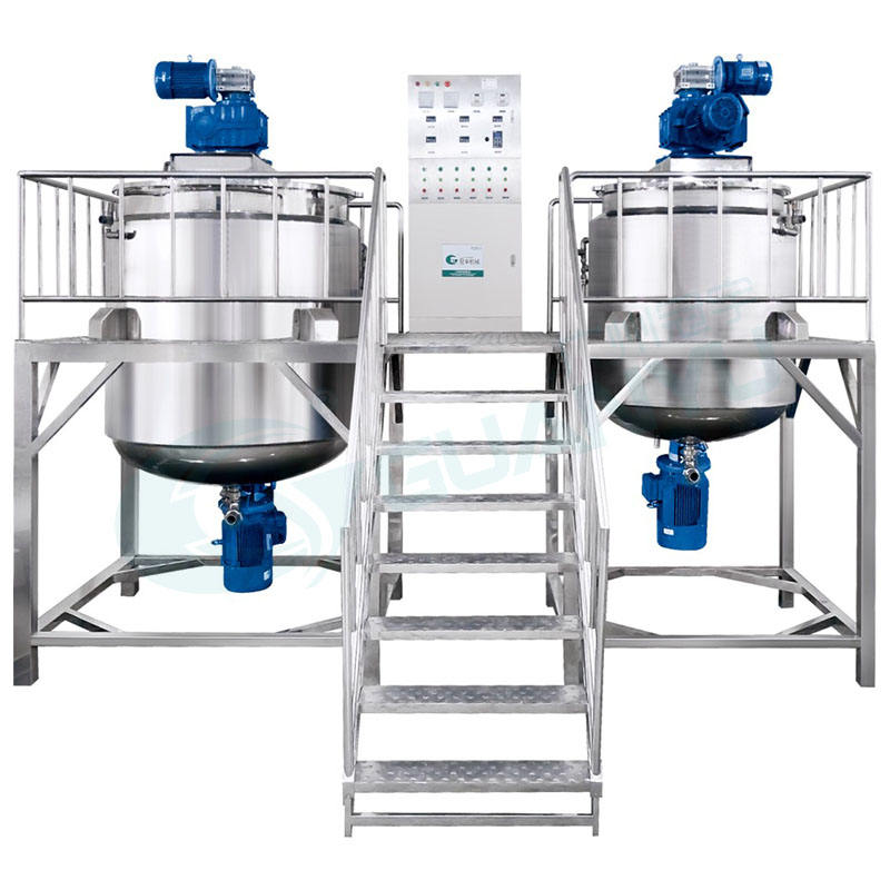 Guanyu Cosmetic Mixing Machine Softener Mixing Tank Agitator Slurry Tank Stainless Steel Mixing Tank