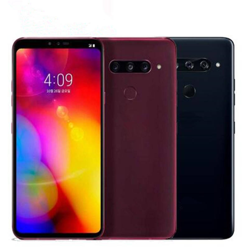 "6.4"" 6GB RAM Android Octa Core Mobile phone dual front 3 rear Cameras Fingerprint Original Used SmartPhone for LG V40 ThinQ"