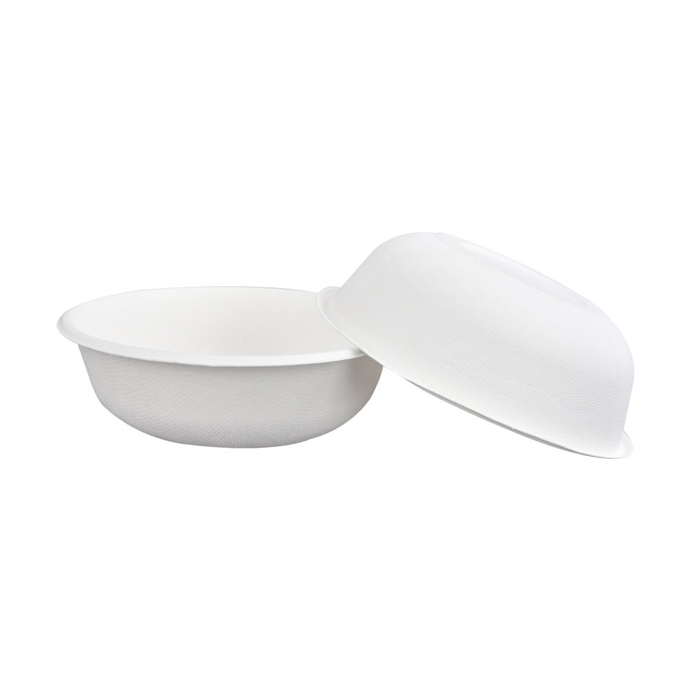 Eco friendly biodegradable compostable sugar cane disposable salad bowl