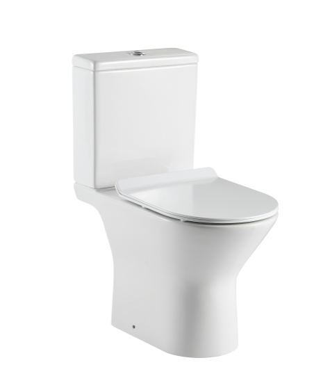ANBI 2020 Flushes Cheap Sanitary Ware White Water Closet Bathroom Ceramic Two Piece Wc Toilet Bowl