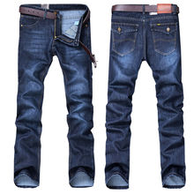 Bulk Wholesale Plain Blue New Design Men Casual Trousers Mens Side Pocket Stylish Elastic Straight Fit Jeans Men For Boys