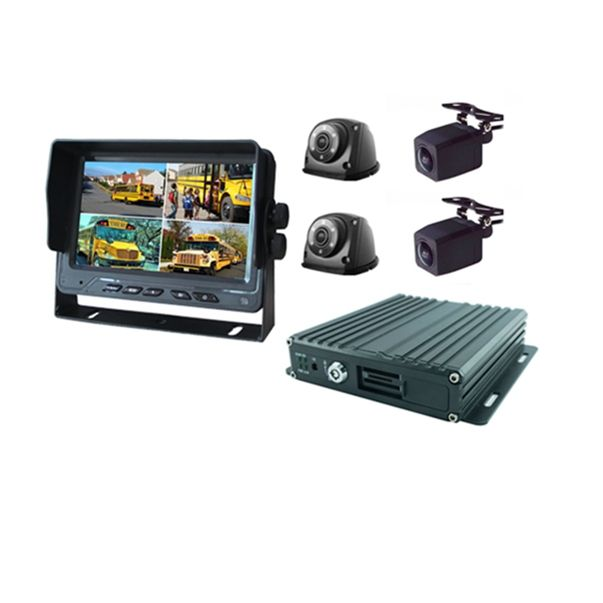 High Quality 4CH 1080P sd card car mobile dvr with GPS 4G WiFi optional