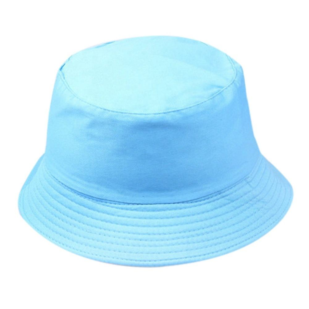 QY Unisex Summer Foldable Bucket Hat Women Outdoor Sunscreen Cotton Fishing Hunting Hat Men Basin Chapeau Sun Prevent Hats