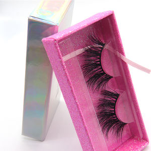 Hot Selling High Quality 25Mm Mink Eyelash Thick And Custom Box With Custom Packaging