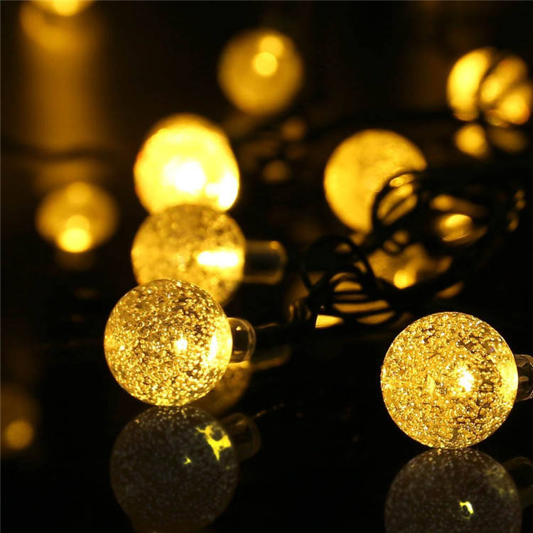Bubble crystal ball LED Solar Fairy Lights Copper Wire Lights Waterproof Outdoor String Lights for Garden