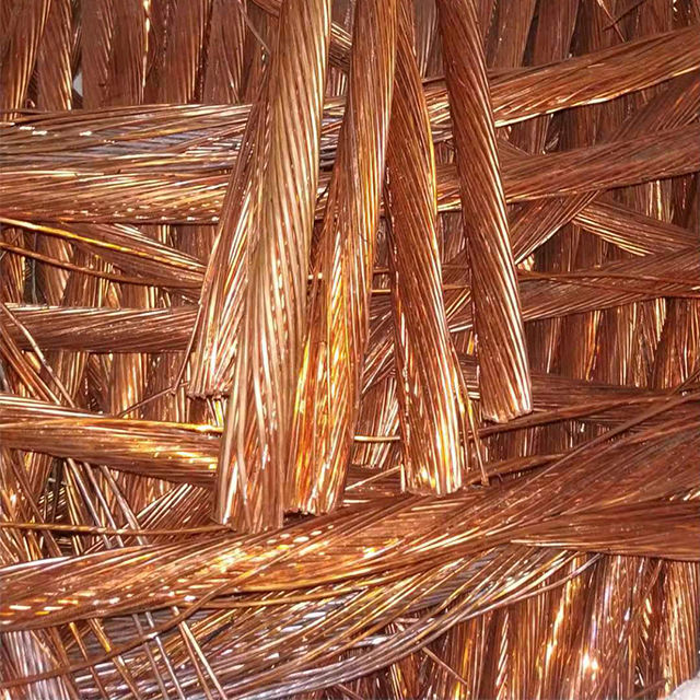 Pure copper wire scrap 99.99% low cost