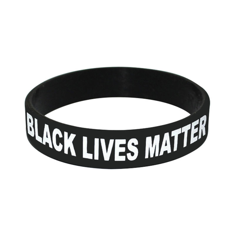 Cheap Custom Silicone Wristband I Cant Breathe Ankle Bracelets Black Lives Matter