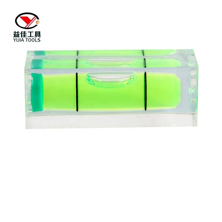 YJ-HG151540 square section level vial rectangular bubble spirit level