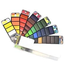 Superior Foldable Solid Watercolor Paint Set With Watercolor Paint Brush For Art Supplies