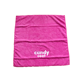 China Suppliers Custom Embroidery Logo Microfiber Quick Drying Pink Hand Face Sports Towel With Logo