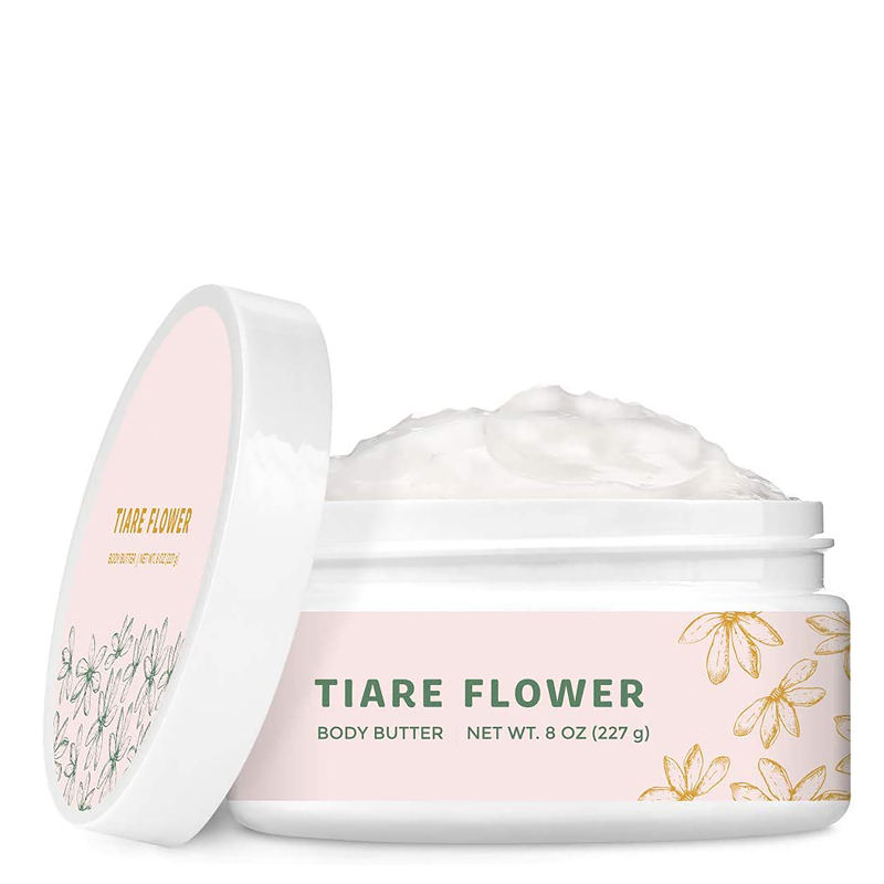 Hot Sale Professional Skincare 227ML Hydrating & Softening And Tiare Flower & Citrus Body Butter
