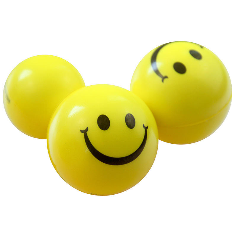 Customized logo stress ball relieve stress 6.3cm soft pu foam stress balls
