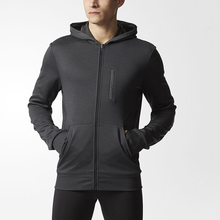 Wholesale mens clothes polyester training hoodie fitness zipper jackets