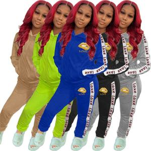 Hot Sale Two Piece Set Tracksuit Women Jacket Pant Sweat Suit Matching Sets