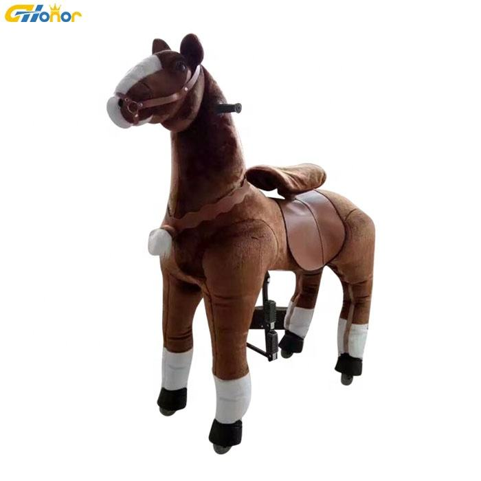 Battery Coin Operated Horse Ride Animal Ride On Toy Plush Animal Ride for Sale