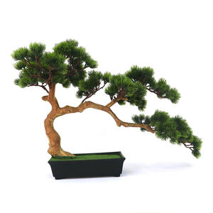 Hot Sales 48cm Mini Green Plastic Fake Plants Artificial Bonsai Pine Tree for Home