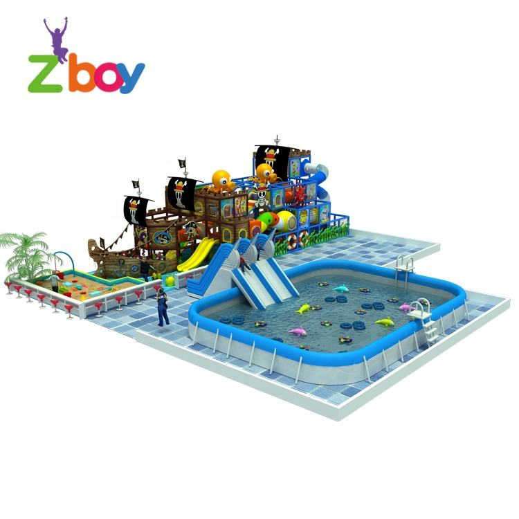 Kids Indoor Fun City Playground Children Amusement Park Equipment For Sale