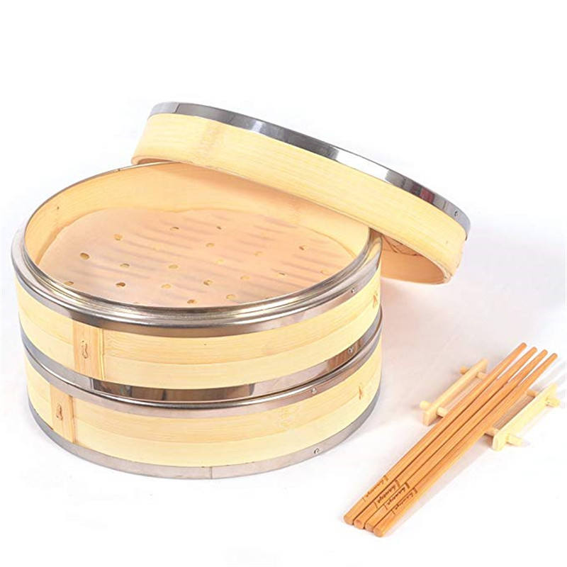 Factory environmental 10 Inch bamboo fish - Steam Basket bamboo steamer with very low price