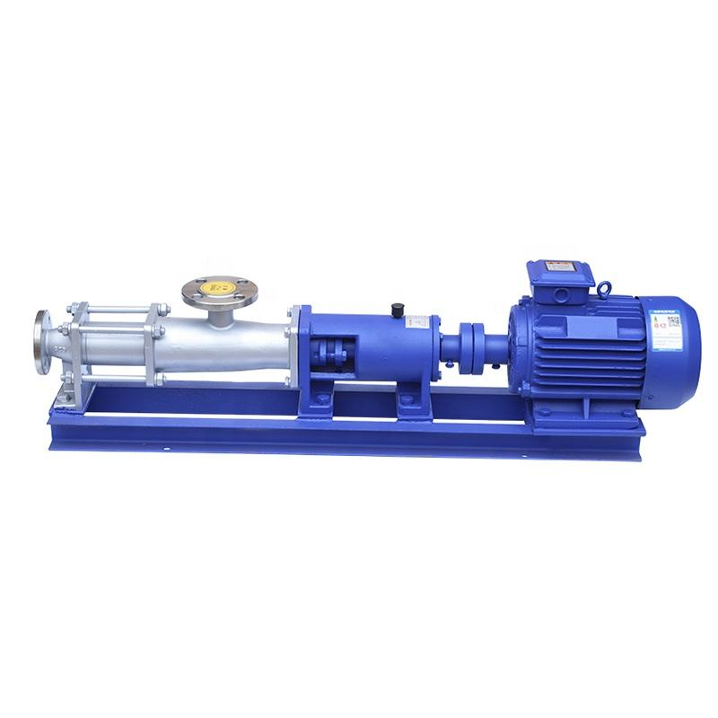 G type single stage screw pump/mud progressive cavity screw pump 304ss 1 year assurance