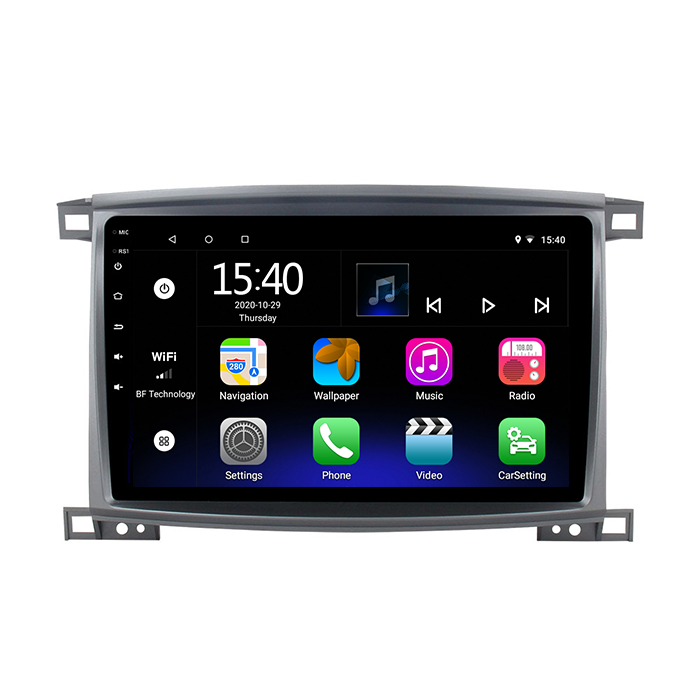 10.1 Inch Aux Ondersteuning Digitale Tv Carplay Dvr Obd Ii Mini Stereo Mp3 Speler Voor Toyota Land Cruiser Lc 100 vxr 2002-2007