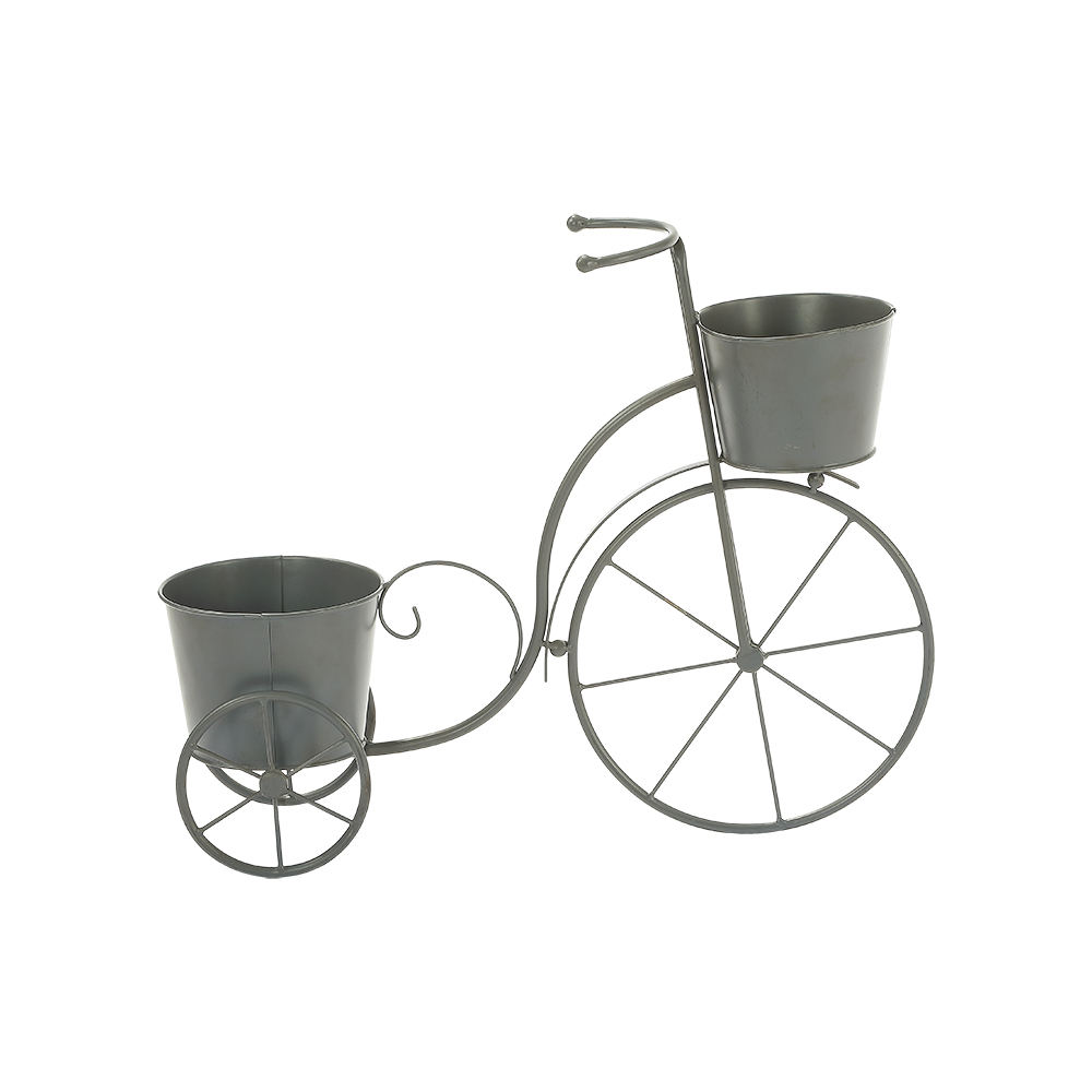 Elegant Classical Garden Iron Bike Flower Planter Pot for Home Decor