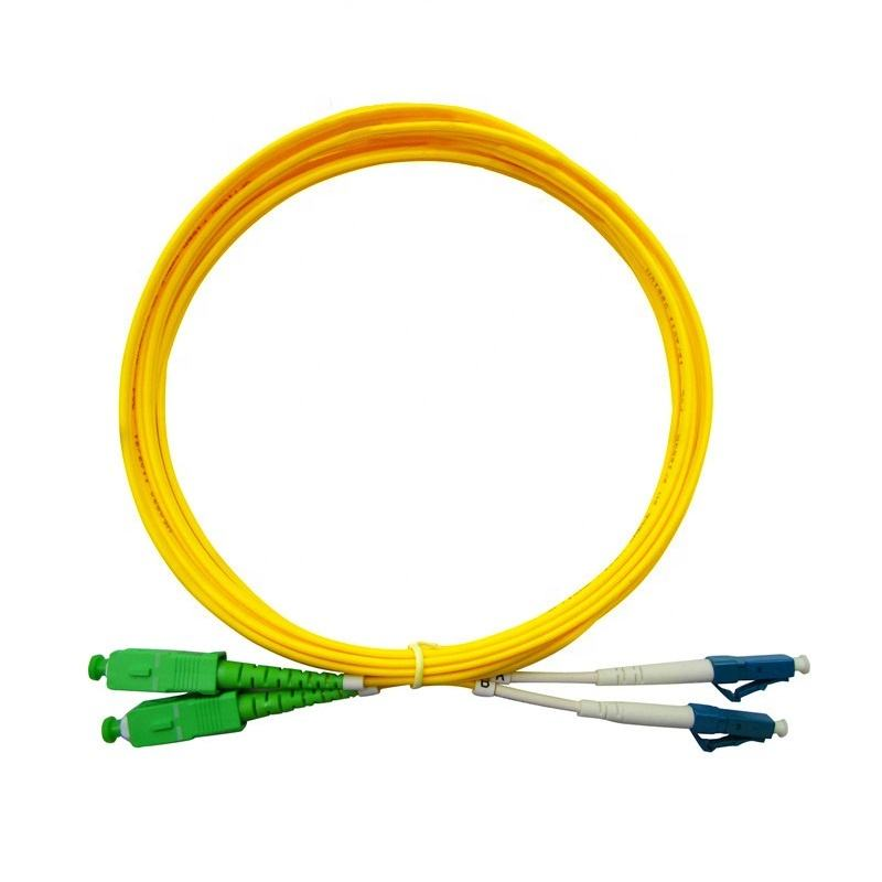 SC APC LC UPC Duplex Single mode G657A or customized Fiber Optic Patch cord Fiber Jumper