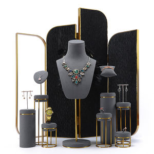 DIGU metall zähler schmuck display set halskette anhänger hand kette windows schmuck display stand sets