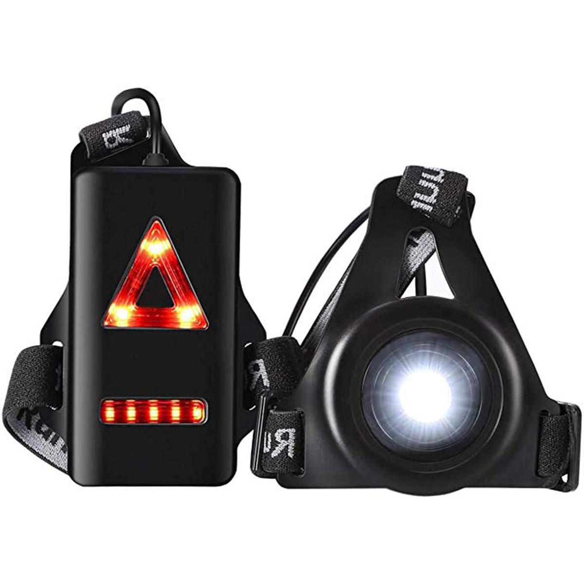 Chest Running Light for Runners and Joggers with Adjustable Beam and Reflector Widely Use Rechargeable Safety Light, Headlamp