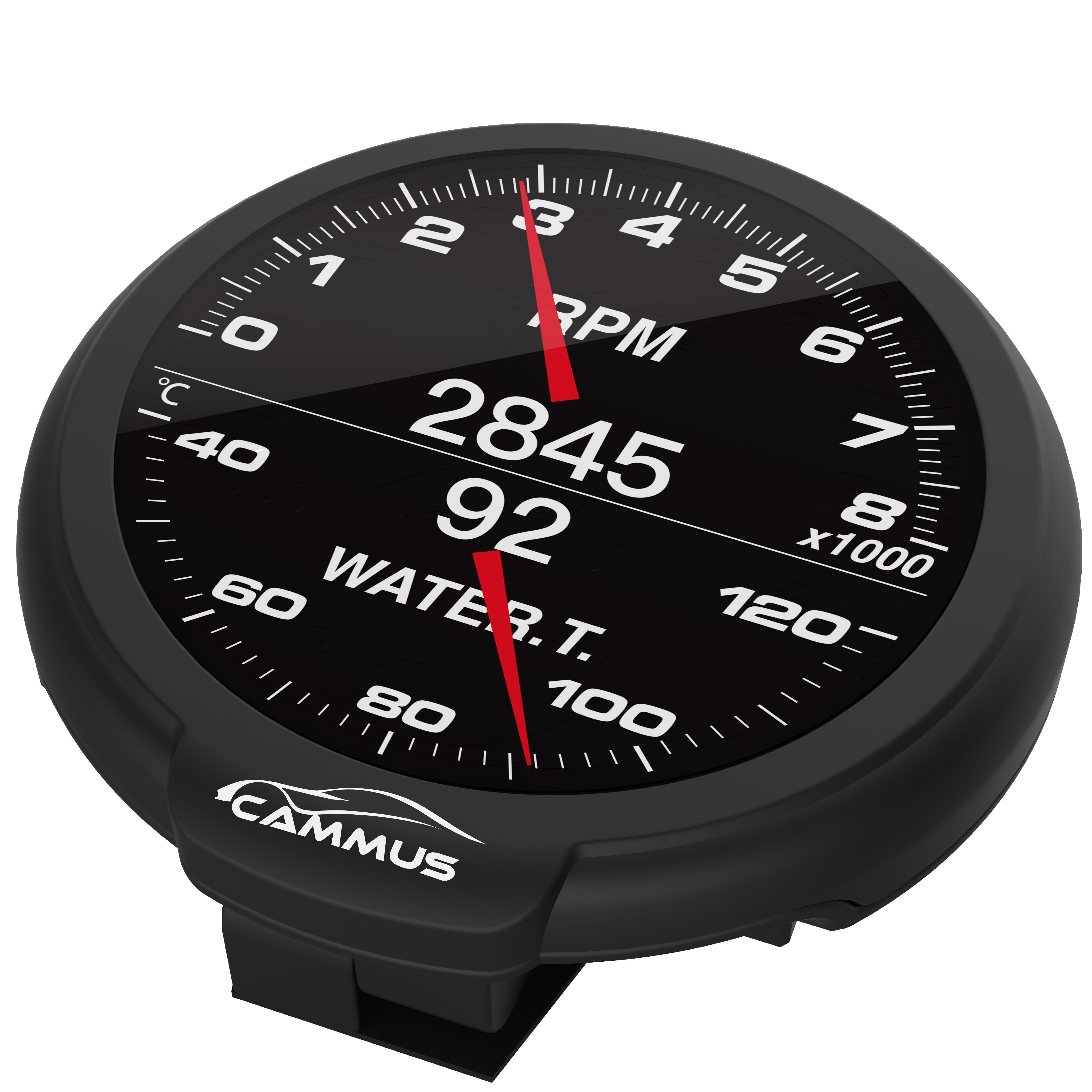 CAMMUS small size Racing Gauge fits both OBDII and Sensor Oil Temperature, Oil Pressure and Boost, EGT