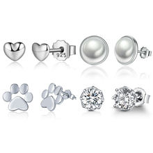 New arrival high quality fashion jewelry 925 sterling silver stud silver earrings for women