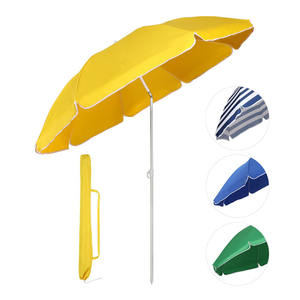 2020 New Inventions 140G Polyester Upf 50+ 160Cm Beach Umbrella, Wholesale China TCCC Audit 8k Steel Tilt Beach Umbrella Small