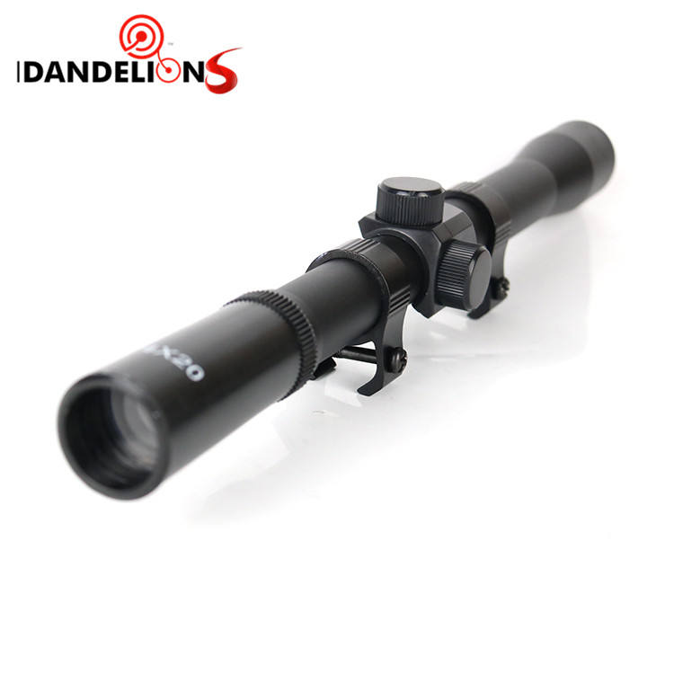 Cheap 4X20 Rifle Scope Air Riflescopes Gun Sniper Hunting Tactical Optical Reflex Long Range Optics Scope with Scope Mounts