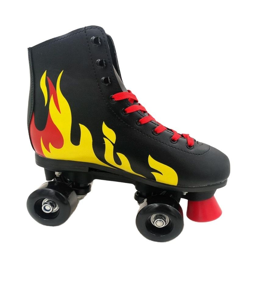 Hot Sale ABEC-7 Rolamento Moda Black Fire Quad Patins Calçados