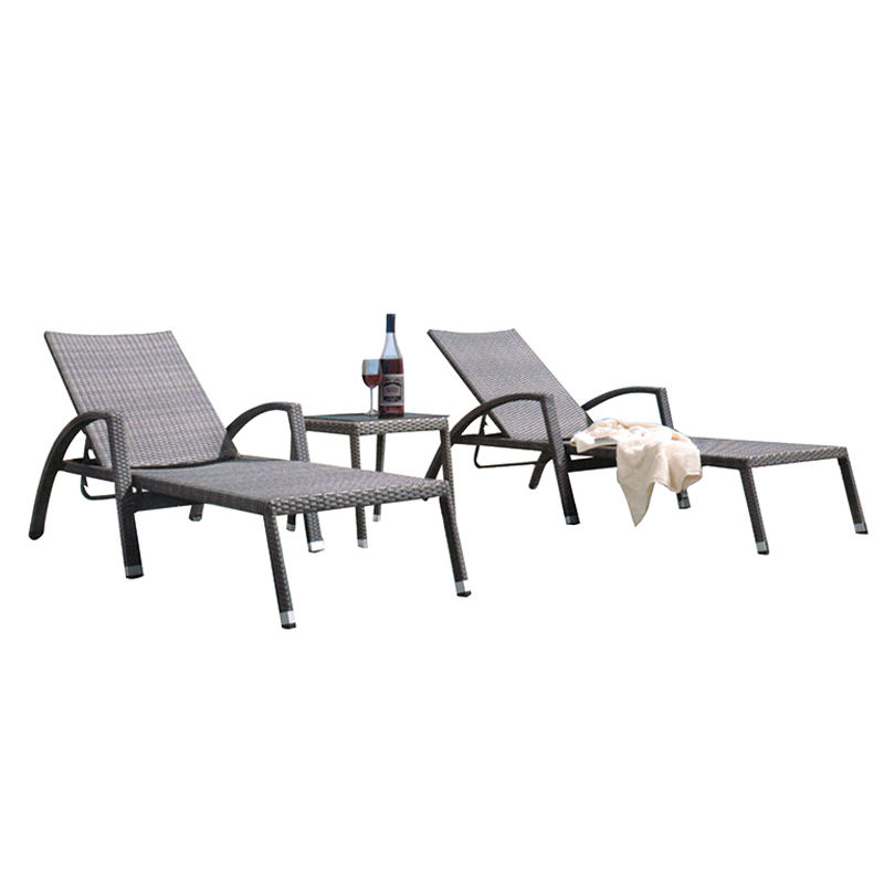 rattan round sunbed poolside chairs chaise rattan lounge chair outdoor furniture 3 piece rattan wicker chaise lounge chair
