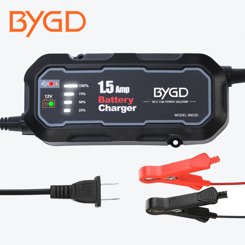 lead acid battery charger 12V Intelligent repair car battery charger 1500mA battery charger 12 volt