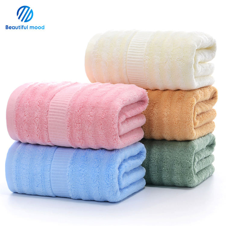 Factory Wholesale high quality bamboo couple bath towel set for home