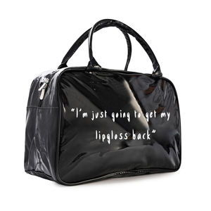 Spend Night Leather Custom Logo black Hand bag Large Storage Sports Tote Cosmetic Wholesale overnight Duffel Bag
