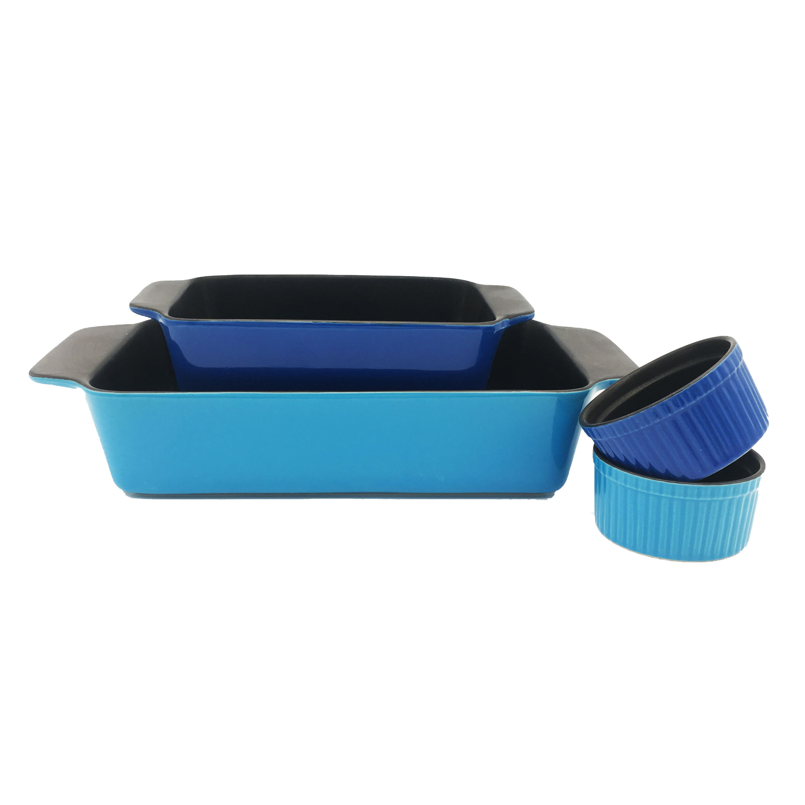 Safe home use Set of 4 non-stick coating ceramic bakeware baking dish