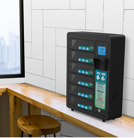 Kidigi UNY phone charging locker for restaurant