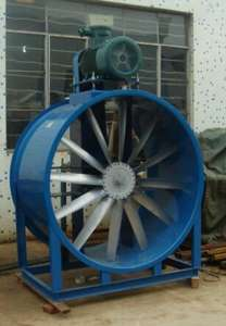 Industrial exhaust cooling belt driven axial fan