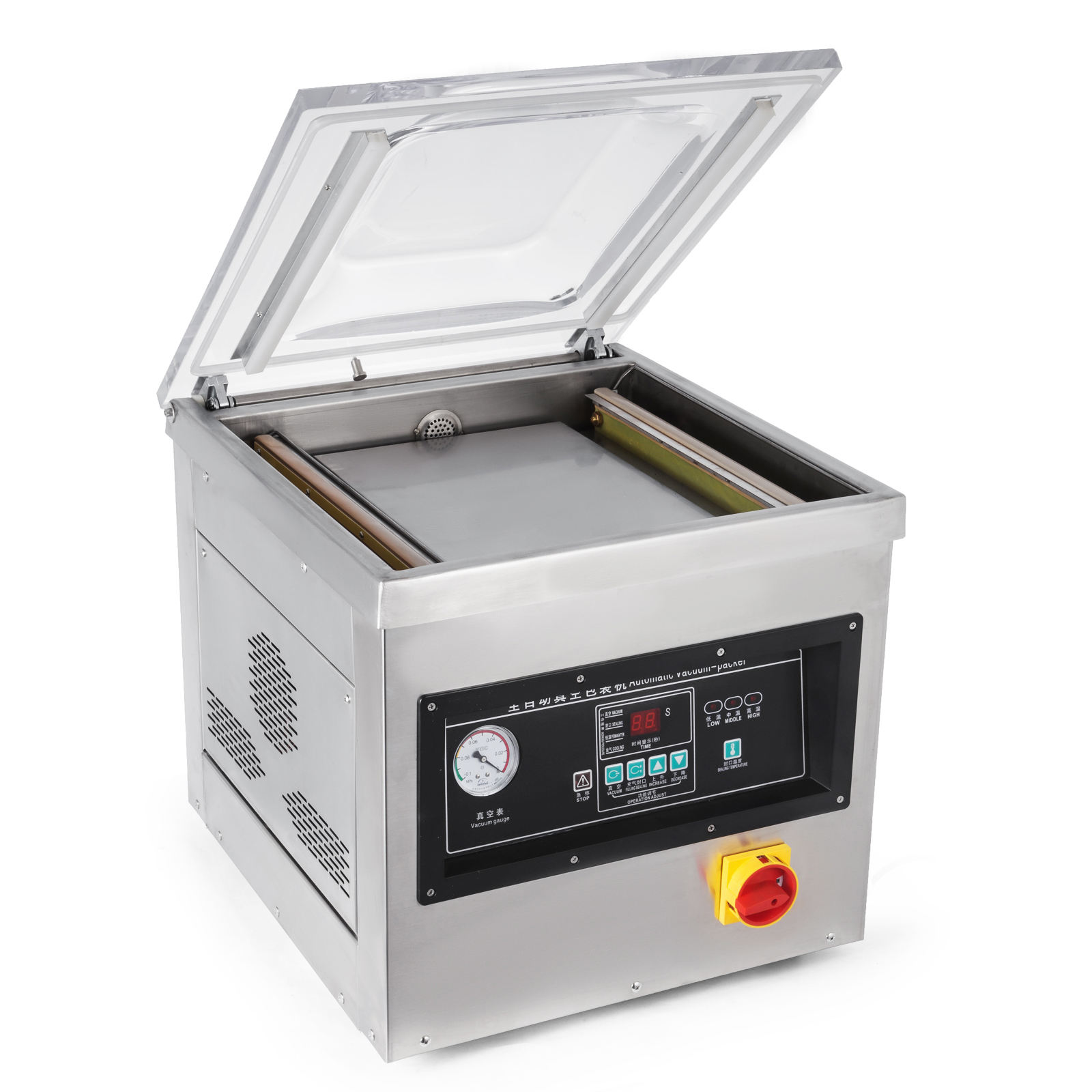 DZ-400-2F table top rice nuts meat fish cheese mini automatic sealer vacuum packing machine