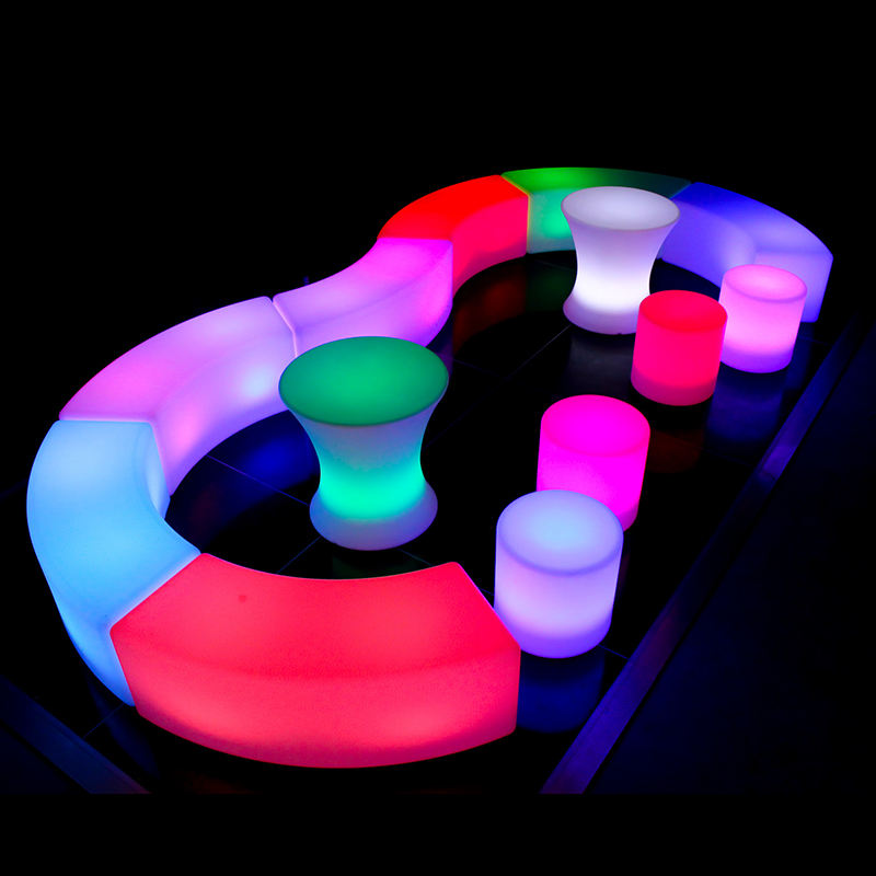 Waterproof illuminated LED furniture bar stool bench for night club